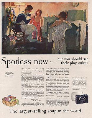 ORIG VINTAGE MAGAZINE AD/ 1929 PROCTOR & GAMBLE SOAP ADillustrator- Haddon  Sundblom - Product Image