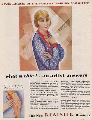 ORIG VINTAGE MAGAZINE AD/ 1929 REALSILK HOSIERY AD illustrator- N/A - Product Image