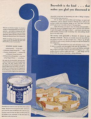 ORIG VINTAGE MAGAZINE AD/ 1929 SNOWDRIFT ADillustrator- Rene  Clarke - Product Image