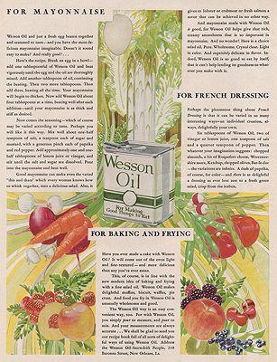 ORIG VINTAGE MAGAZINE AD/ 1929 WESSON OIL ADillustrator- Rene  Clarke - Product Image