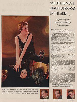ORIG VINTAGE MAGAZINE AD/ 1929 WOODBURY SOAP ADillustrator- N/A - Product Image