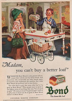 ORIG VINTAGE MAGAZINE AD/ 1930 BOND BREAD ADillustrator- N/A - Product Image