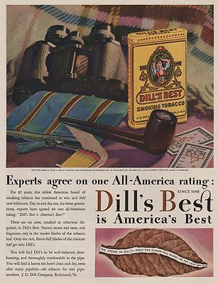 ORIG VINTAGE MAGAZINE AD/ 1930 DILL'S BEST TOBACCO ADillustrator- N/A - Product Image