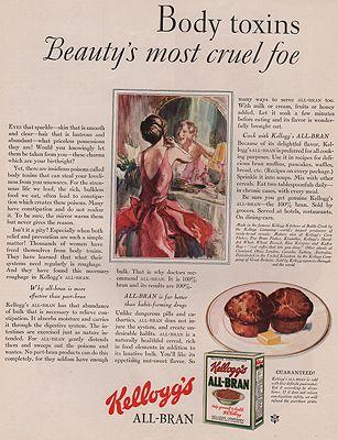 ORIG VINTAGE MAGAZINE AD/ 1930 KELLOGG'S ALL-BRAN CEREAL ADillustrator- John  LaGatta - Product Image