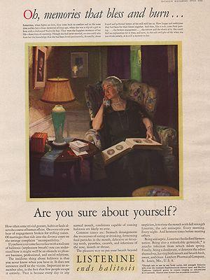 ORIG VINTAGE MAGAZINE AD/ 1930 LISTERINE ADillustrator- C.E.  Chambers - Product Image