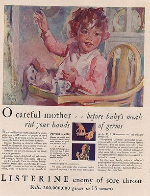 ORIG VINTAGE MAGAZINE AD/ 1930 LISTERINE ADillustrator- Edwin  Henry - Product Image
