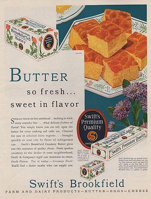 ORIG VINTAGE MAGAZINE AD/ 1930s BROOKFIELD BUTTER & EGGS ADillustrator- N/A - Product Image