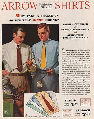 ORIG VINTAGE MAGAZINE AD/ 1931 ARROW SHIRTS ADillustrator- Frederic  Stanley - Product Image