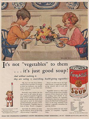 ORIG. VINTAGE MAGAZINE AD: 1931 CAMPBELL'S SOUP ADillustrator- Jessie Wilcox  Smith - Product Image