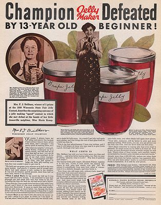 ORIG VINTAGE MAGAZINE AD/ 1931 CERTO JELLY ADillustrator- N/A - Product Image