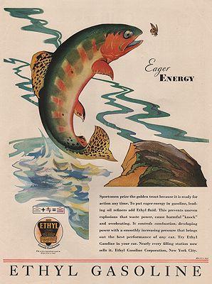 ORIG. VINTAGE MAGAZINE AD: 1931 ETHYL GASOLINE ADillustrator- N/A - Product Image