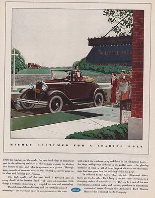 ORIG VINTAGE MAGAZINE AD/ 1931 FORD CONVERTIBLE CABRIOLET ADillustrator- James  Williamson - Product Image