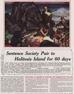 ORIG VINTAGE MAGAZINE AD/ 1931 LISTERINE ADillustrator- Saul  Tepper - Product Image