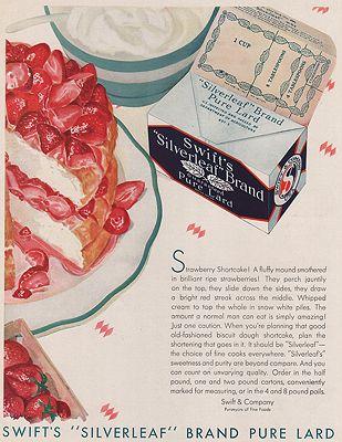 ORIG VINTAGE MAGAZINE AD/ 1931 SWIFT'S LARD ADillustrator- N/A - Product Image