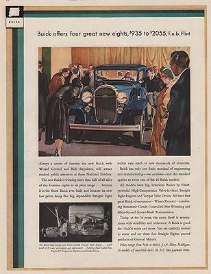 ORIG VINTAGE MAGAZINE AD/ 1932 BUICK CAR ADillustrator- Ronald  McLeod - Product Image