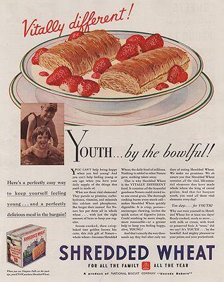 ORIG VINTAGE MAGAZINE AD/ 1933 SHREDDED WHEAT CEREAL ADillustrator- N/A - Product Image