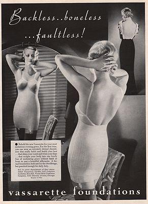 ORIG VINTAGE MAGAZINE AD/ 1933 VASSARETTE FOUNDATIONS ADillustrator- N/A - Product Image