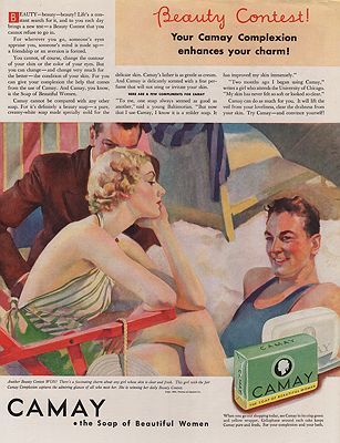 ORIG VINTAGE MAGAZINE AD/ 1934 CAMAY SOAP ADillustrator- Roy  Spreter - Product Image