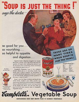 ORIG VINTAGE MAGAZINE AD/ 1934 CAMPBELL'S SOUP ADillustrator- N/A - Product Image