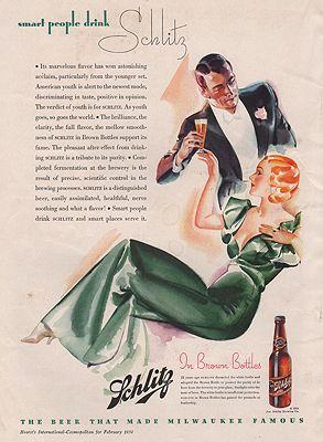 ORIG VINTAGE MAGAZINE AD/ 1934 SCHLITZ BEER ADillustrator- N/A - Product Image