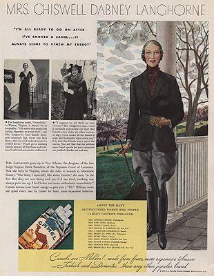 ORIG VINTAGE MAGAZINE AD/ 1935 CAMEL CIGARETTES ADillustrator- Pierre  Brissaud - Product Image