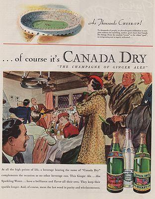 ORIG VINTAGE MAGAZINE AD/ 1935 CANADA DRY GINGER ALE ADillustrator- James  Williamson - Product Image