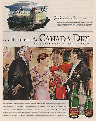 ORIG VINTAGE MAGAZINE AD/ 1935 CANADA DRY GINGER ALE ADillustrator- James  Williamson - Product Image