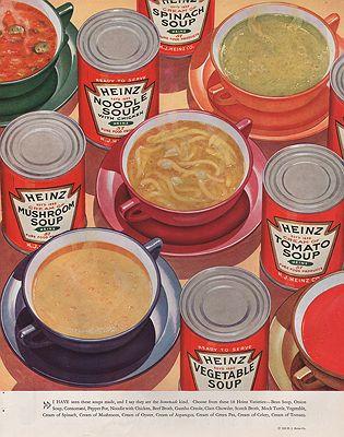 ORIG VINTAGE MAGAZINE AD/ 1935 HEINZ SOUP ADillustrator- N/A - Product Image