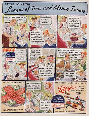ORIG VINTAGE MAGAZINE AD/ 1935 LIBBY'S CANNED MEAT DELICACIES ADillustrator- N/A - Product Image