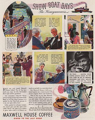 ORIG VINTAGE MAGAZINE AD/ 1935 MAXWELL HOUSE COFFEE ADillustrator- N/A - Product Image