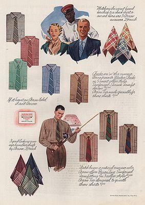 ORIG VINTAGE MAGAZINE AD/ 1936 ARROW SHIRT ADillustrator- James  Williamson - Product Image