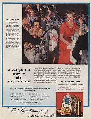 ORIG VINTAGE MAGAZINE AD/ 1936 CAMEL CIGARETTES ADillustrator- N/A - Product Image