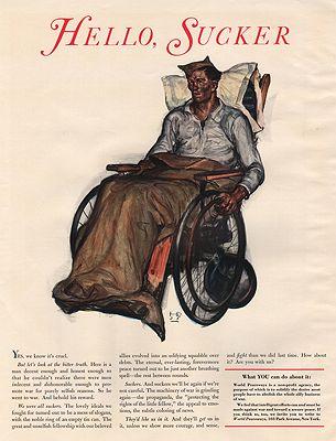 ORIG VINTAGE MAGAZINE AD/ 1936 WORLD PEACEWAYS ADillustrator- Harvey  Dunn - Product Image