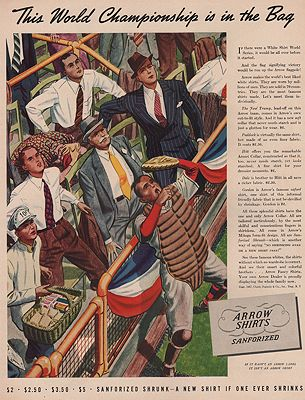 ORIG VINTAGE MAGAZINE AD/ 1937 ARROW SHIRT ADillustrator- James  Williamson - Product Image