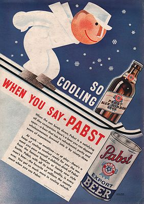 ORIG VINTAGE MAGAZINE AD/ 1937 PABST BEER ADillustrator- N/A - Product Image