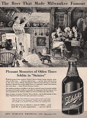 ORIG VINTAGE MAGAZINE AD/ 1937 SCHLITZ BEER ADillustrator- N/A - Product Image