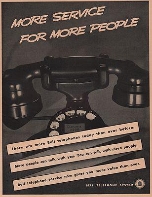 ORIG VINTAGE MAGAZINE AD/ 1938 BELL TELEPHONE ADillustrator- N/A - Product Image