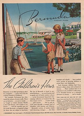 ORIG VINTAGE MAGAZINE AD/ 1938 BERMUDA TOURISM ADillustrator- James  Williamson - Product Image