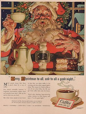 ORIG. VINTAGE MAGAZINE AD: 1938 COFFEE BUREAU ADillustrator- J.C.  Leyendecker - Product Image