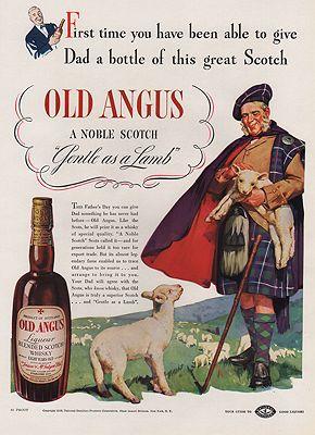 ORIG VINTAGE MAGAZINE AD/ 1938 OLD ANGUS WHISKEY ADillustrator- N/A - Product Image