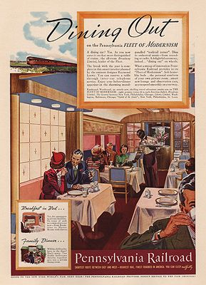 ORIG VINTAGE MAGAZINE AD/ 1938 PENNSYLVANIA RAILROAD ADillustrator- N/A - Product Image