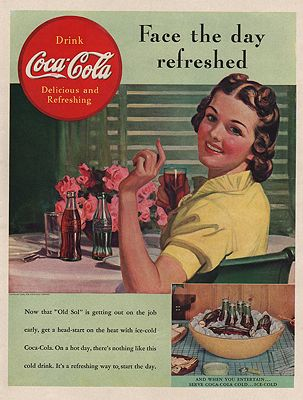 ORIG VINTAGE MAGAZINE AD/ 1939 COCA-COLA ADillustrator- N/A - Product Image