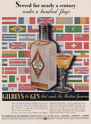 ORIG VINTAGE MAGAZINE AD /1939 GILBEY'S GIN AD illustrator- N/A - Product Image