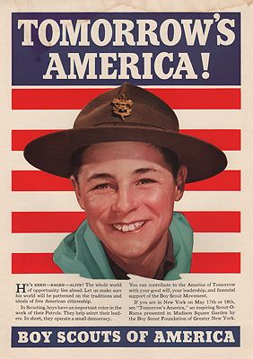 ORIG. VINTAGE MAGAZINE AD: 1940 BOY SCOUTS OF AMERICA ADillustrator- N/A - Product Image