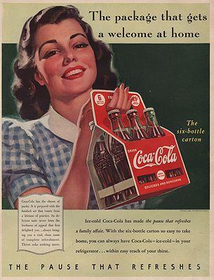 ORIG VINTAGE MAGAZINE AD/ 1940 COCA-COLA ADillustrator- Haddon  Sundblom - Product Image