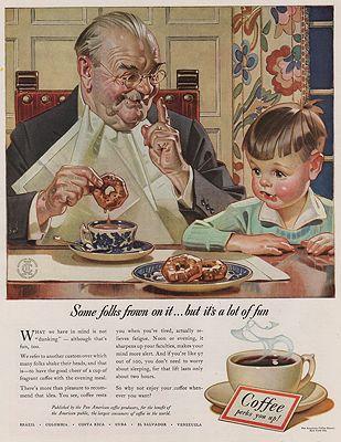 ORIG VINTAGE MAGAZINE AD/ 1940 COFFEE ADillustrator- J.C.  Leyendecker - Product Image