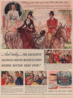 ORIG VINTAGE MAGAZINE AD/ 1940 MAXWELL HOUSE COFFEE ADillustrator- Henry  Raleigh - Product Image