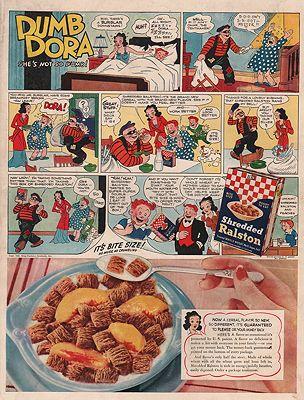 ORIG VINTAGE MAGAZINE AD/ 1940 SHREDDED RALSTON CEREAL ADillustrator- N/A - Product Image