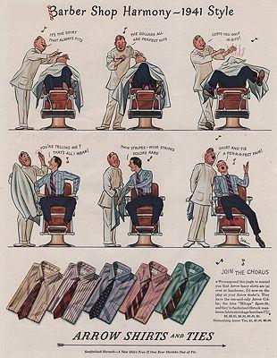 ORIG VINTAGE MAGAZINE AD/ 1941 ARROW SHIRT ADillustrator- James  Williamson - Product Image