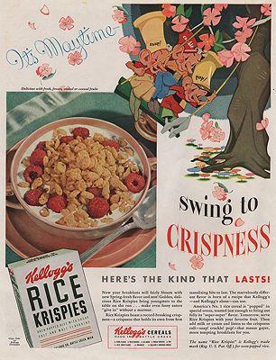ORIG VINTAGE MAGAZINE AD/ 1941 RICE KRISPIES CEREAL ADillustrator- N/A - Product Image